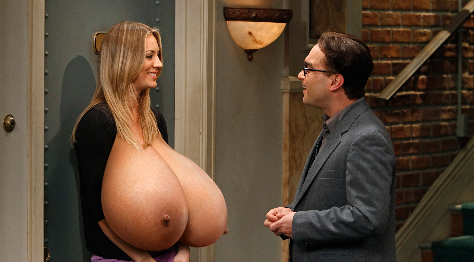 Big tits cuoco kaley Nude Kaley